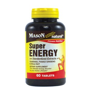SUPER ENERGY WITH GUARANA, PANAX GINSENG, & KOLA NUT TABLETS