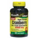 CRANBERRY SUPER STRENGTH 50:1 FRUIT CONCENTRATE 6000MG SOFTGELS