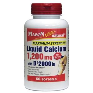 LIQUID CALCIUM 1200MG WITH D3 2000IU MAXIMUM STRENGTH SOFTGELS