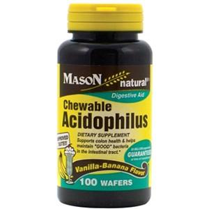 ACIDOPHILUS CHEWABLE WAFFERS (vanilla-banana flavor)