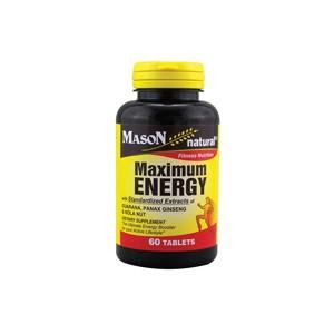 MAXIMUM ENERGY WITH GUARANA, PANAX GINSENG, & KOLA NUT TABLETS
